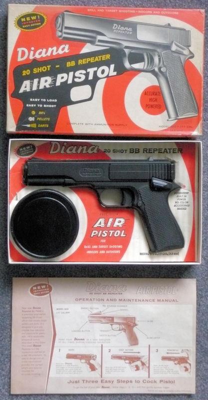 Vintage Diana Model - 2 air pistol in